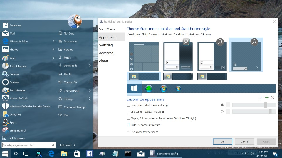 StartIsBack ++ 2.9.2 Replaces The Start Menu In Windows 10